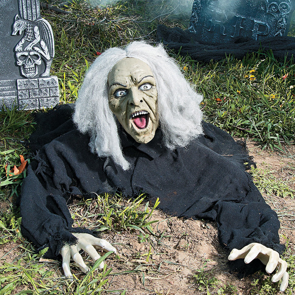 お墓 魔女 魔法使い おばけ 雑貨 置物 インテリア 墓地 RIP 飾り