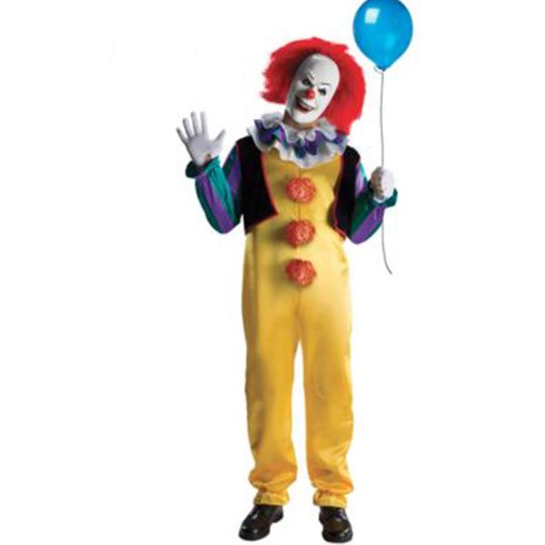 ピエロ コスプレ 衣装 ホラー 道化師 ペニーワイズ クラウン 映画 IT 大人 男性 ハロウィン 仮装 コスチューム