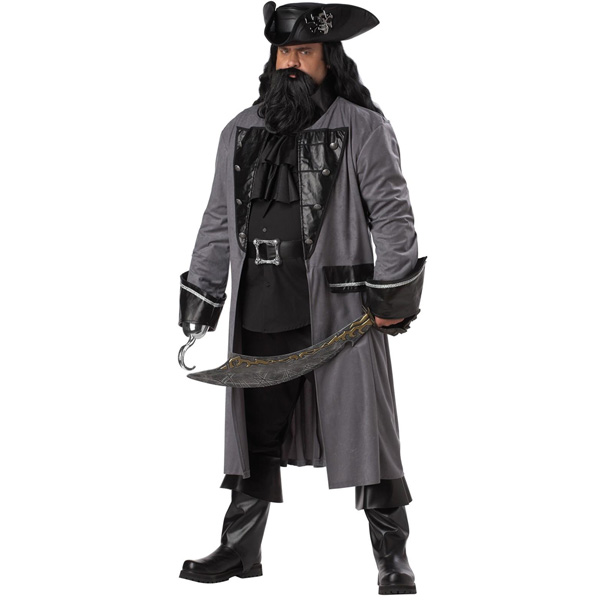 海賊 パイレーツ ハロウィン コスプレ 衣裳 黒ひげの海賊 大人用コスチューム 大きいサイズ