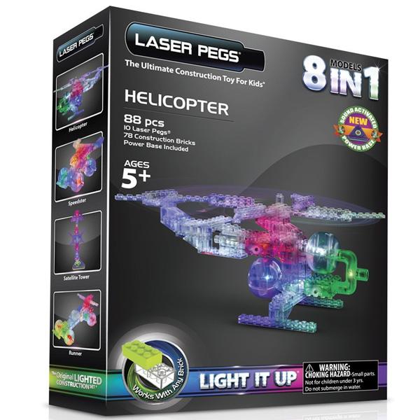 通常便なら送料無料 サイエンストイ 化学 ◇限定Special Price 科学おもちゃ 教材 レーザーペグ LEDで光るブロック 英語 玩具 8種類のヘリコプターキット 店