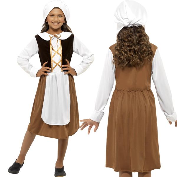 女の子用 衣装 お手伝いさん 家政婦ドレス コスチューム コスプレ