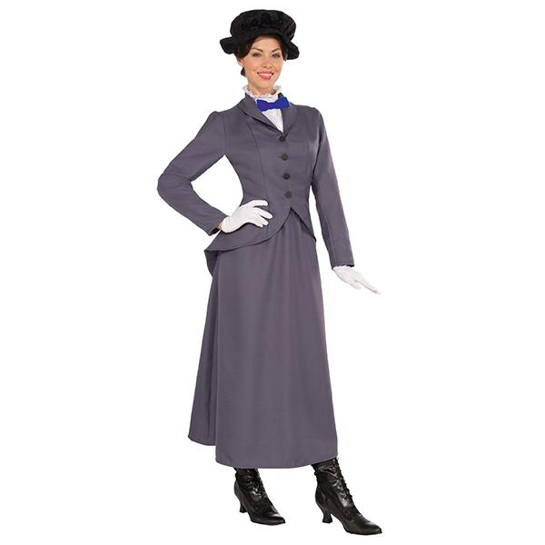 メリー・ポピンズ コスチューム 大人 女性 ハロウィン 衣装 コスプレ ベビーシッター ナニー メアリー ポピンズ 魔法