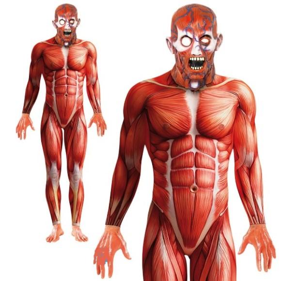 巨人のコスプレ 超大型巨人 全身タイツ 解剖人体 衣装 大人用 コスチューム