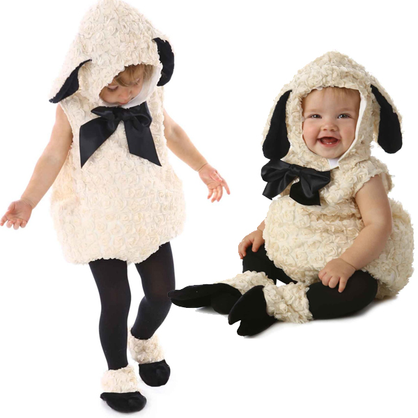 ヴィンテージ ラム 子羊 幼児 コスチューム ヒツジ 素材 かわいい モフモフ ひつじ 着ぐるみ あす楽