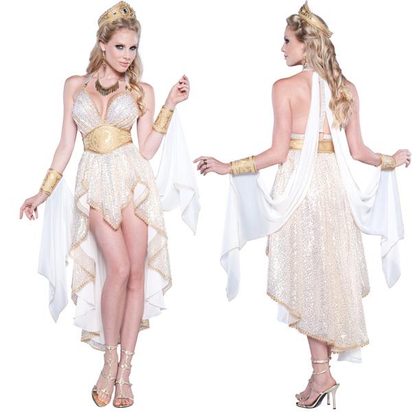 セクシー ゴージャス 女神 コスチューム 大人 女性 ハロウィン コスプレ 衣装 古代 女神 ローマ アフロディーテ オリンポス