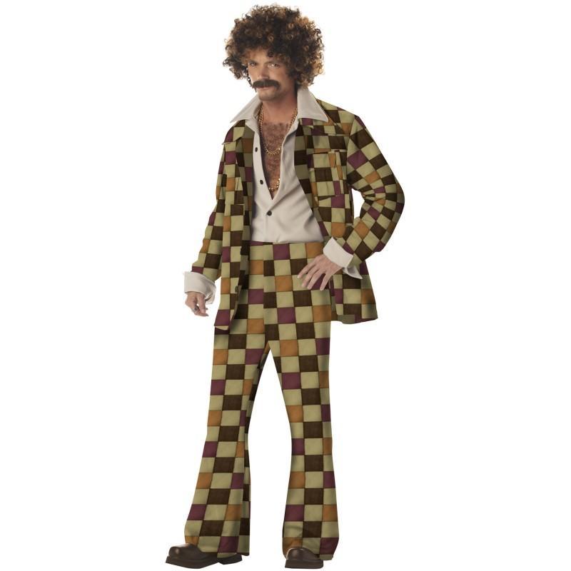 1970 年代 ふざけた ディスコ 野郎 大人 男性 コスチューム ハロウィン 衣装 70' ディスコ 嫌な スーツ