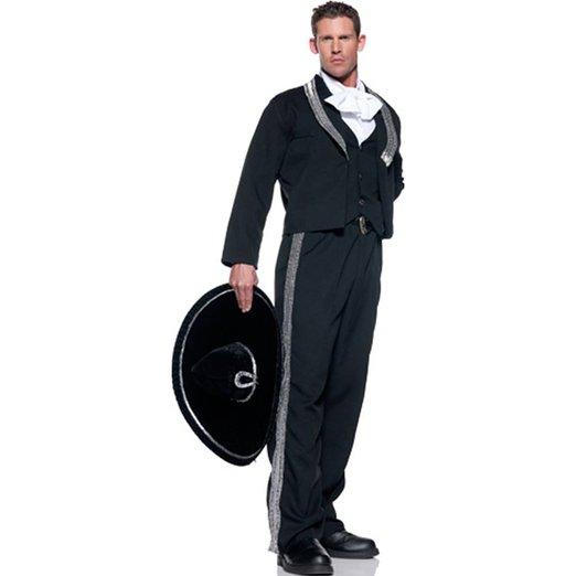 コスプレ メキシコ 仮装 衣装 帽子 ハット付 大人 男性用 マリアッチのコスチューム
