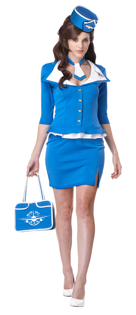 Retro sexy stewardess CA adult women Halloween party costume flight attendant cabin crew old fashioned retro costumes  sc 1 st  Rakuten & acomes | Rakuten Global Market: Retro sexy stewardess CA adult women ...