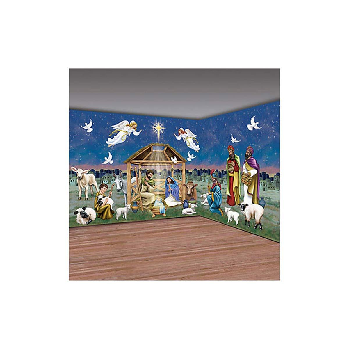クリスマス ウォール デコレーション 壁 バックグラウンド 飾り キリスト 教会 ホリデー ジーザス 神様