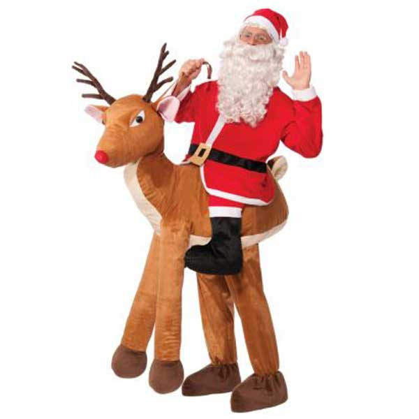 サンタ コスプレ 大人 おもしろい コスチューム トナカイに乗ったサンタクロースの衣装