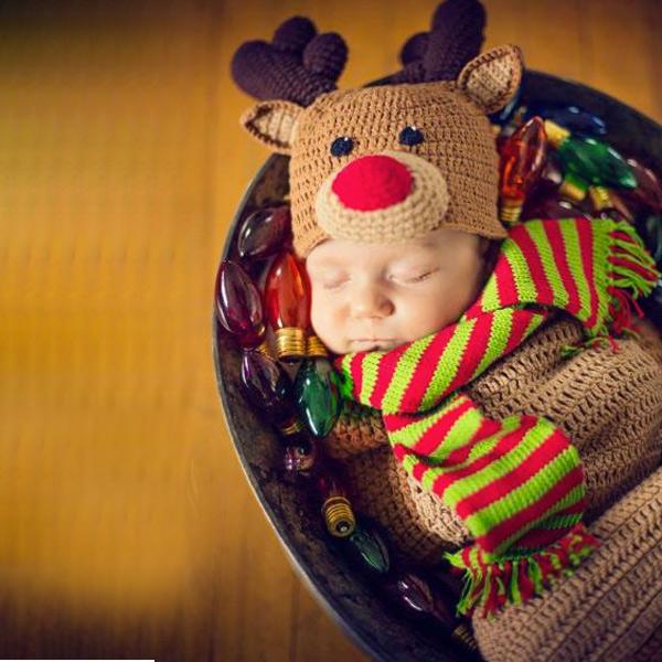 トナカイ 赤ちゃん用 おくるみ コスチューム クリスマス ギフト プレゼント コスプレ 衣装