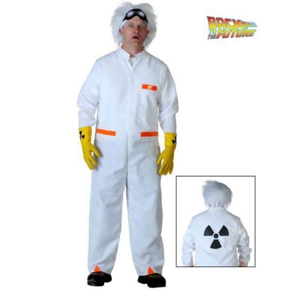 バックトゥザフューチャー ドク ブラウン博士 コスチューム ウィッグ付 大人 男性用 ハロウィン コスプレ 仮装 衣装 バックトゥザフューチャーー
