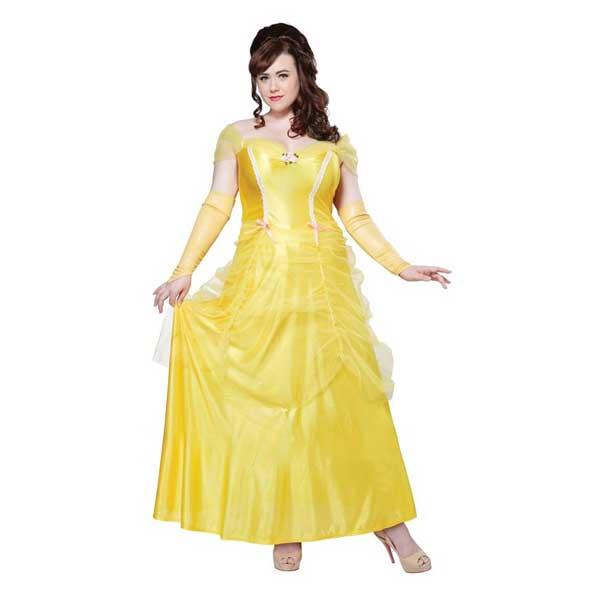 美女と野獣 衣装 大きいサイズ ベル コスチューム ハロウィン コスプレ イベント黄色 ドレス ハロウィン 仮装