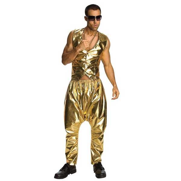 MCハマー ラップ ラッパー ミュージシャン ゴールド ラメ パンツ 大人用 ハロウィン コスプレ コスチューム 衣装