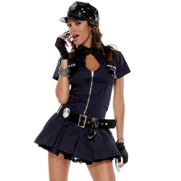 コスプレ 大人 セクシー 警官 警察 ミニスカ ポリス 制服 衣装 全部揃ったコスチュームセット
