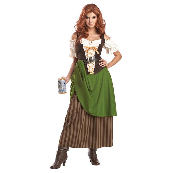 中世/ヨーロッパ 中世 酒場の娘 コスプレ 衣装 ハロウィン 大人用コスチューム