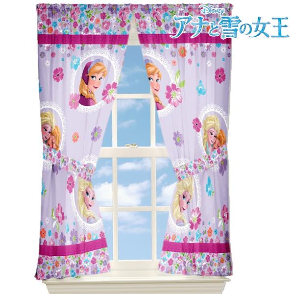 アナと雪の女王 子供部屋 キラキラ カーテン セット エルサディズニー プリンセス 女の子 インテリア