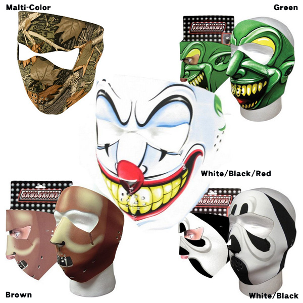 フェイス マスク 全5パターン展開 ハロウィン 仮装 コスプレ大人用 小道具 ホラー ピエロ