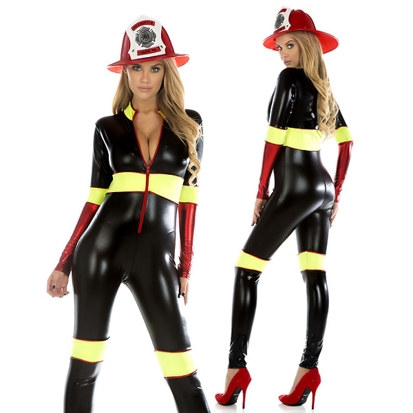 too hot sexy firefighter adult women costume cosplay halloween party christmas feast of presentation - Fireman Halloween