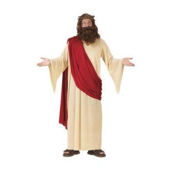 イエス・キリスト コスチューム 神様 大人用 衣装 コスプレ 服 ローブ ハロウィン 舞台 仮装 キリスト教 ジーザス