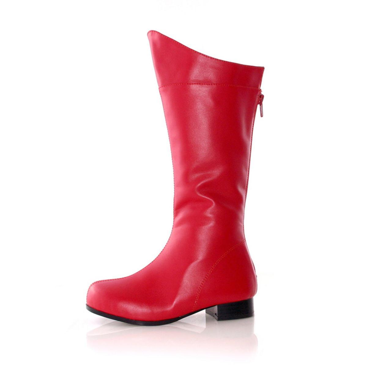 戦隊 ヒーロー なりきり コスプレ グッズ 子供 男の子用 ブーツ 靴 赤 レッド キッズ 仮装 シューズ