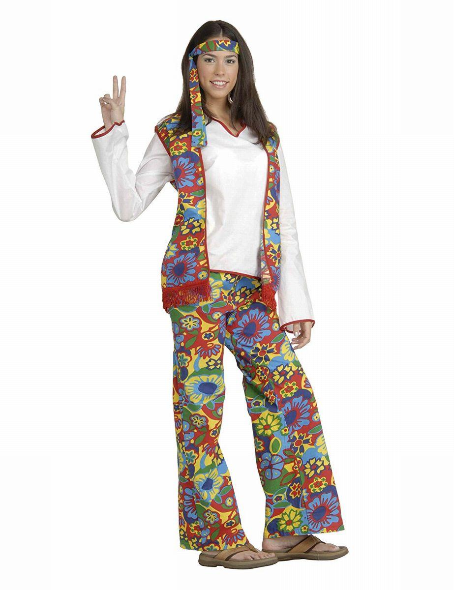 ヒッピーバンド ファッション ヒッピーウーマン プラスサイズ 大人用 コスチューム 大きいサイズ