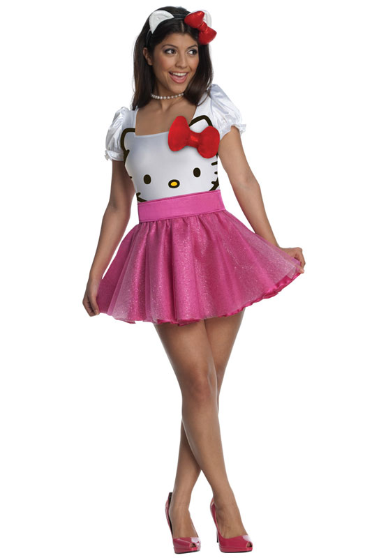 ハローキティ コスプレ コスチューム ドレス ピンク ミニスカート 大人 レディース ハロウィン パーティ 仮装通常便は送料無料