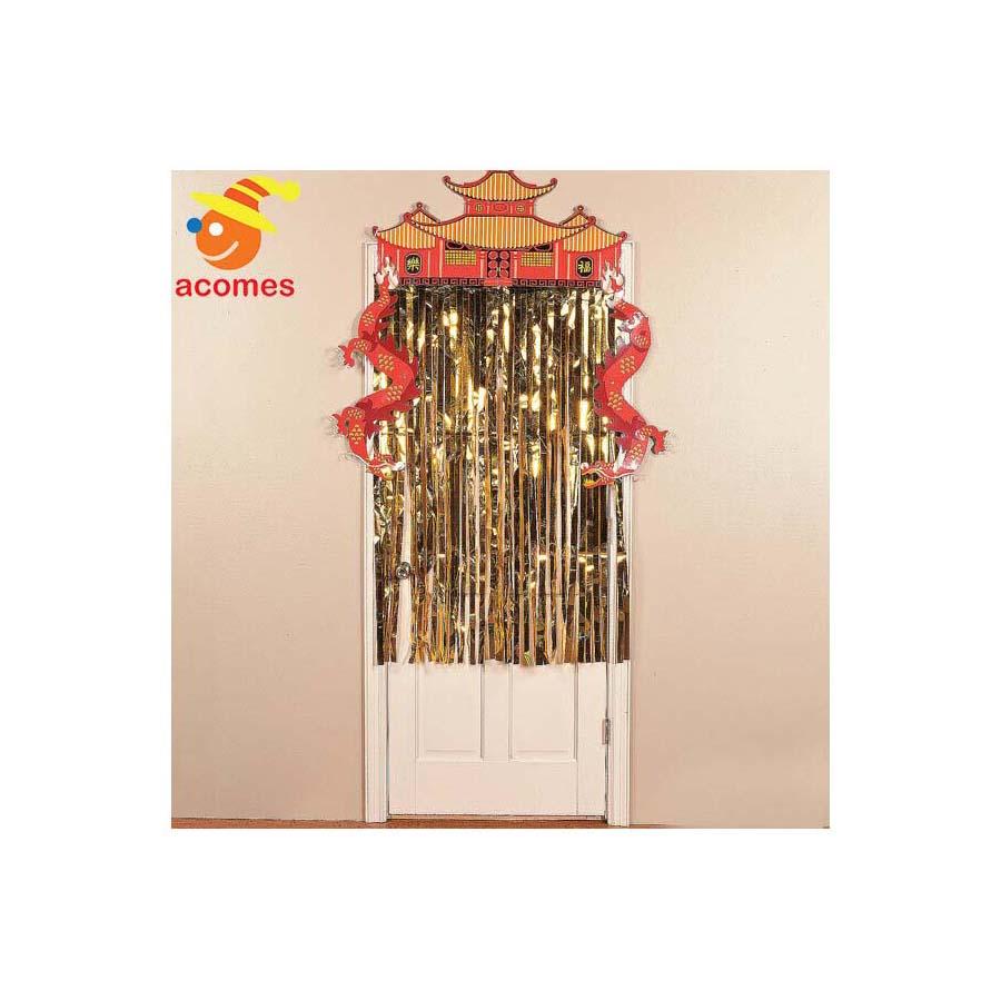 旧正月 チャイニーズ ドラゴン カーテン ドア 飾り 暖簾