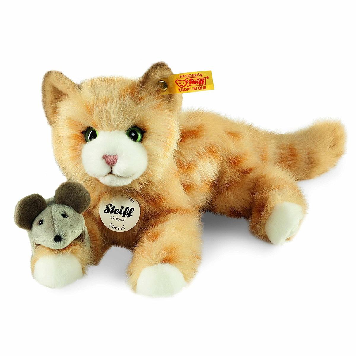 Steiff シュタイフ Mimmi 猫 ネコ ぶち猫 とら猫 キャット 癒し ぬいぐるみ 人形 かわいい 【通常便なら送料無料】