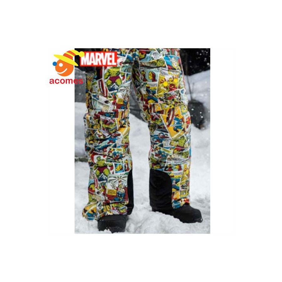 スノボ スキー ズボン スノーパンツ 大人用 アメコミ マーベル コミックス デザイン 雪 誕生日 ホワイトデー ギフト プレゼント