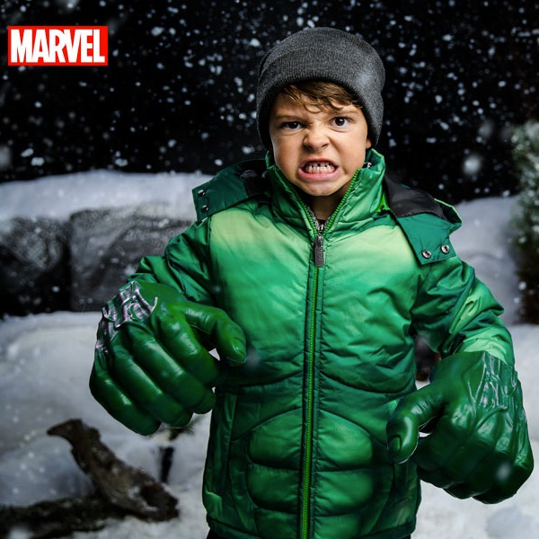 スキーウェア ジュニア スノボ スキー 子供用 ジャケット 超人 ハルク 雪 誕生日 ギフト プレゼント マーベル アベンジャーズ