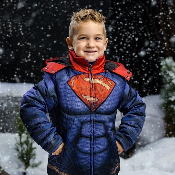 スノボ スキー 子供用 ジャケット スーパーマン 雪 誕生日 ギフト プレゼント