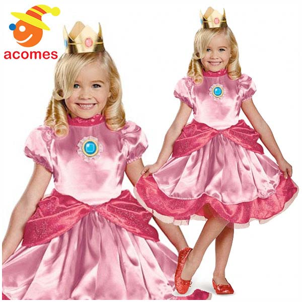 ピーチ姫 幼児 子供 コスプレ 衣装 スーパー マリオ ブラザーズ コスチューム ハロウィン 仮装 クリスマス イベント パーティー