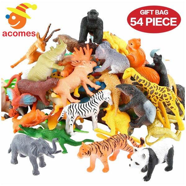 どうぶつ ジャングル 動物園 ミニ フィギュア 54ピース セット