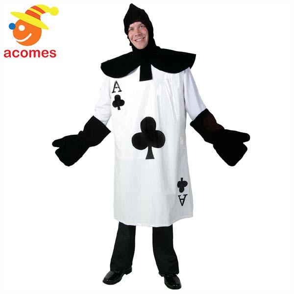 トランプ カード クラブ 大人用 コスチューム 衣装 ハロウィン イベント パーティー