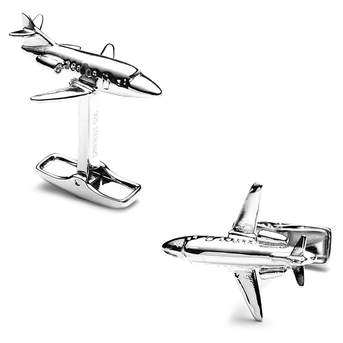 ガルフストリーム グッズ おもちゃ カフリンクス カフボタン カフス シルバー 飾り アクセサリー 航空機 プライベートジェット 自家