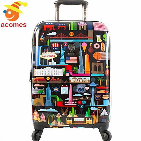 キャリーバッグ アメリカ 合衆国 イラスト 旅行 かばん USA スーツケース