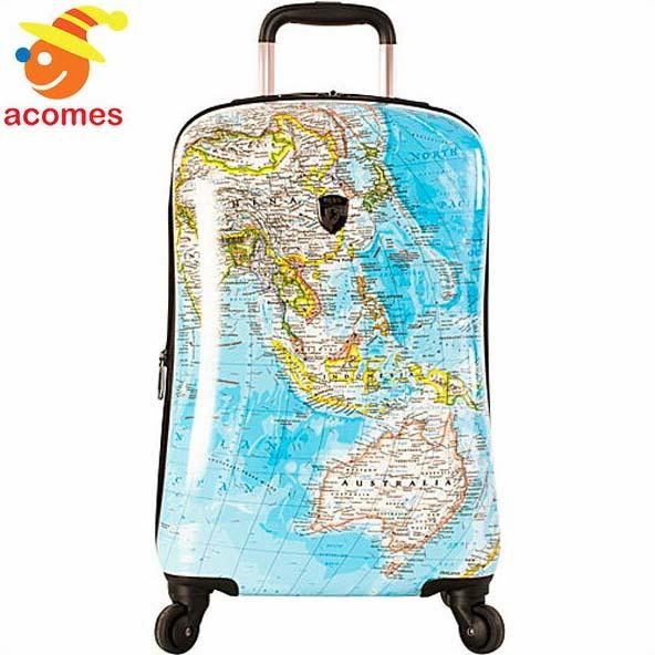 キャリー バッグ スーツケース 2G 世界 地図 ハード サイド ファッション スピナー キャリーオン 21