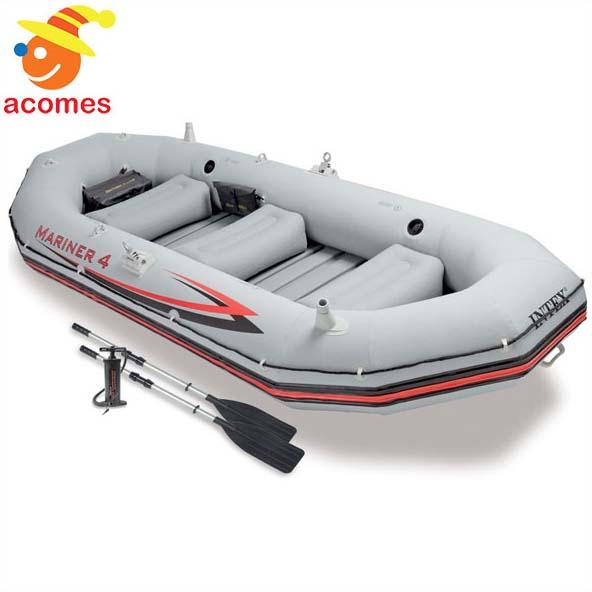 インテックス マリナー4 インフレータブル ボート セット 湖 川 遊び 釣り