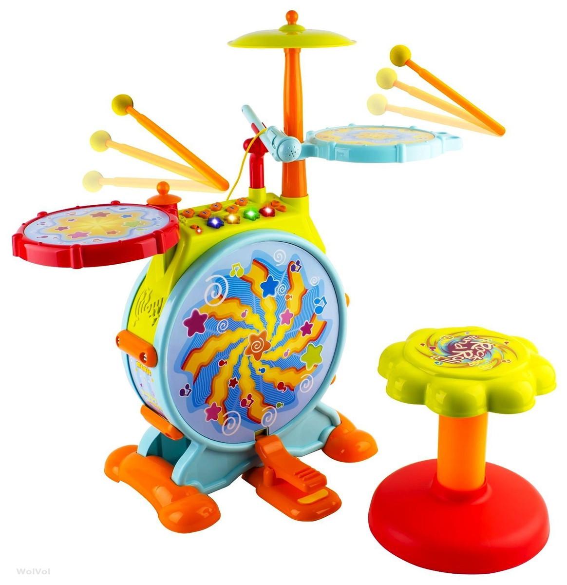WolVol 子供 ドラム おもちゃ ミュージック 音楽 楽器玩具
