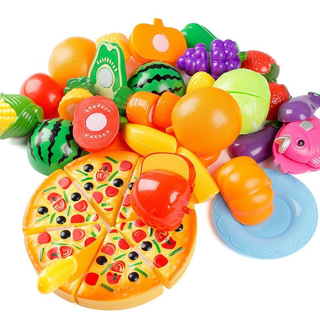 ピザ 野菜 果物 フルーツ セット 子供 料理 クッキング キッチン ままごと 食べ物 おもちゃ 知育玩具