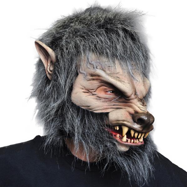 口が動く マスク 狼 オオカミ 動物 コスプレ 変装 仮装 仮面