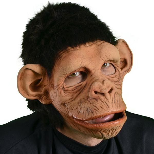 口が動く マスク 猿 サル 動物 コスプレ 変装 仮装 仮面