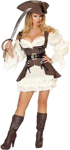 海賊 コスチューム レディース 大人コスプレ ハロウィン 衣装 パイレーツ 4点セット 仮装パーティー イベント セクシー