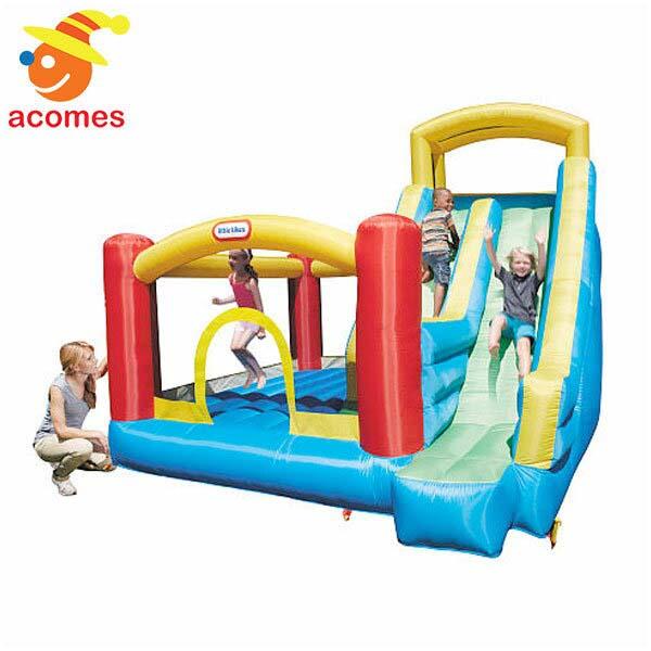 リトルタイクス 滑り台 ふわふわ 遊具 膨らませる 大型 野外 遊具 ジャイアント スライド バウンサー 子供 幼児 ジャンピング Little Tikes
