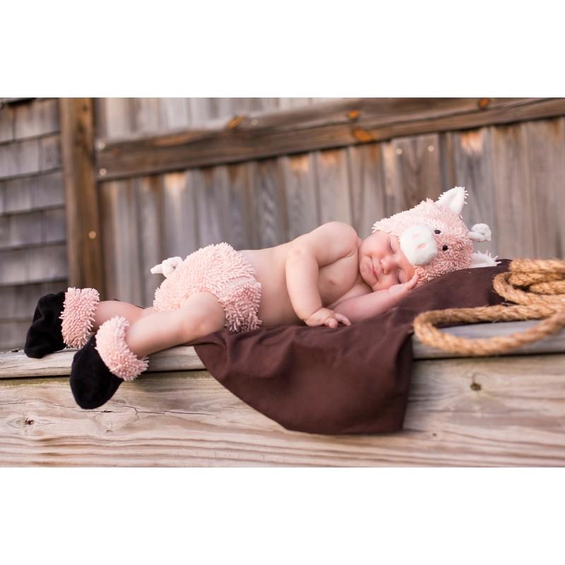 ベビー 服 こぶた コスプレ 赤ちゃん オムツカバー セット 写真 衣装 可愛い ブタ ハロウィン イベント パーティー