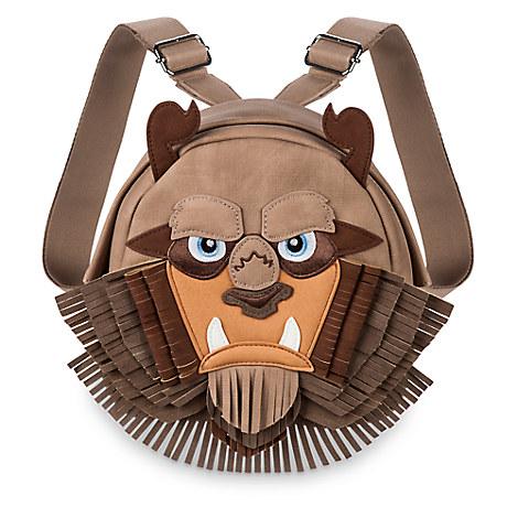 ダニエルニコル ディズニー バッグ かばん 美女と野獣 野獣 リュック バックパック スエード レディース