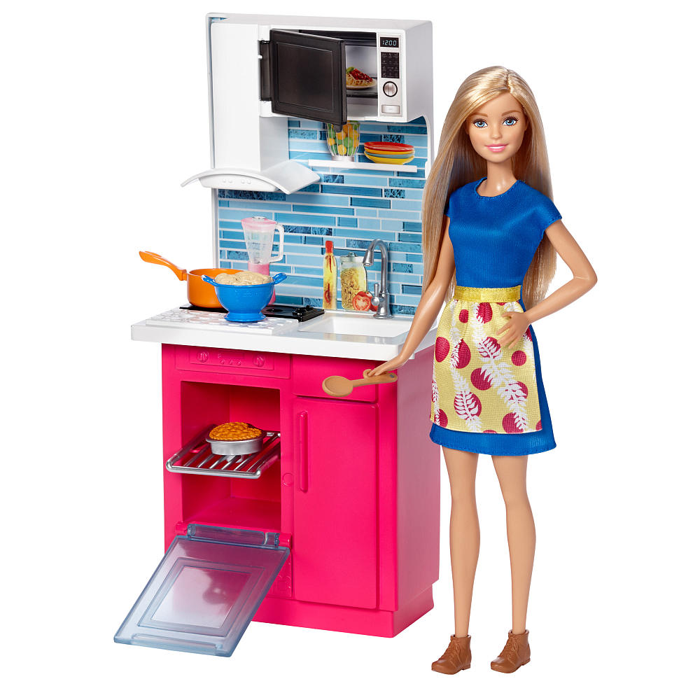 バービー 人形 フィギュア 料理 キッチン 海外版 Barbie おもちゃ