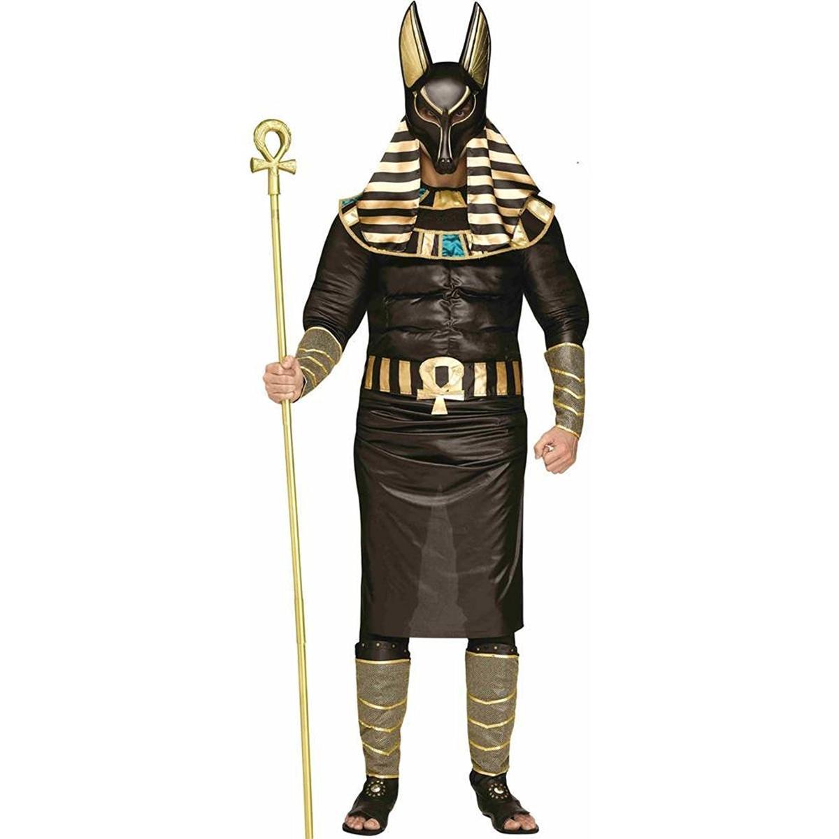 ハロウィン アヌビス 山犬 大人用 コスプレ コスチューム エジプト神話 キャラクター 仮装 衣装 年賀状 戌年