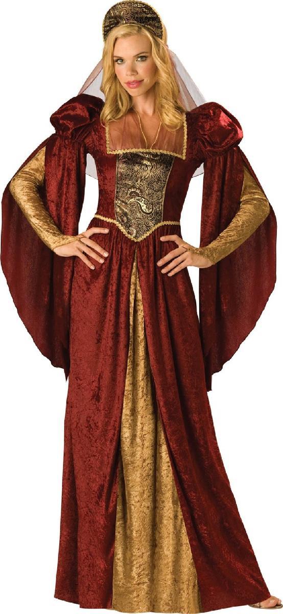 中世 ルネンサンス コスプレ コスチューム ワインレッド 金 ガウン 衣装 女性 民族衣装 レディース 仮装 グッズ